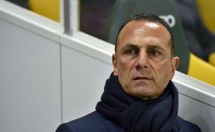 L'entraîneur nantais Michel Der Zakarian  AFP PHOTO / LOIC VENANCE