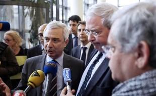 Jean-Paul Huchon et Claude Bartolone le 13 juillet 2012.