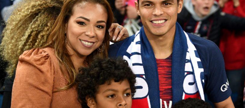 La famille Silva au grand complet au Parc des Princes, le 18 mai 2019.