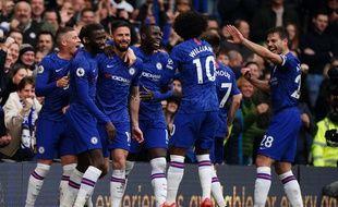 Olivier Giroud et ses coéquipiers de Chelsea. (illustration)