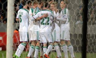 Les joueurs de Vienne se congratulent après un but contre Plzen, le 5 novembre 2015 en Ligue Europa.