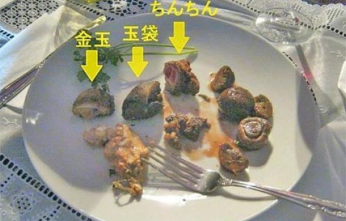 Mao Sugiyama a cuisiné ses parties génitales et les a servies à dîner moyennant 200 euros, en mai 2012 au Japon.  – DR