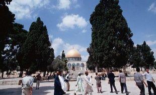 L'esplanade des mosquées et le Dome du Rocher, à Jérusalem.