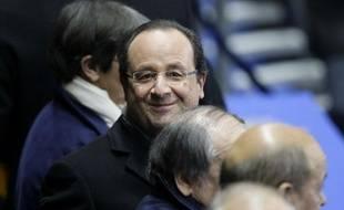 François Hollande le mardi 19 novembre au Stade de France lors du match de football France-Ukraine, remporté 3-0 par la France.