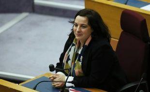 La secrétaire nationale du parti écologiste, Emmanuelle Cosse, à Paris le 18 décembre 2015