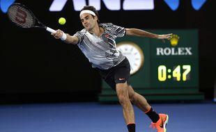 Roger Federer face à Tomas Berdych à l'Open d'Australie