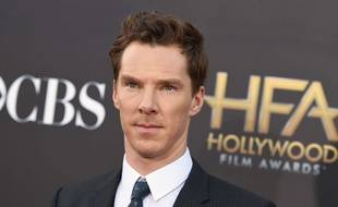 L'acteur britannique Benedict Cumberbatch à son arrivée aux Hollywood Film Awards à Los Angeles, le 14 novembre 2014.