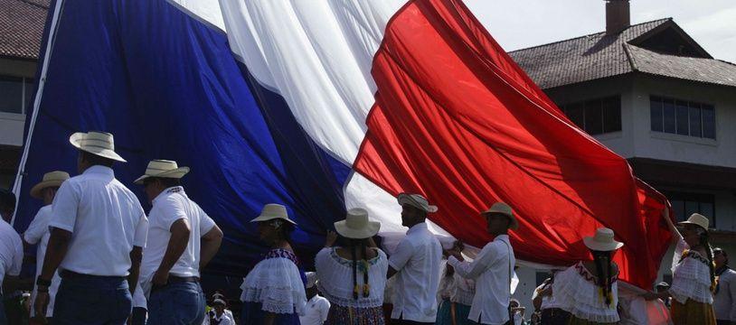 Le drapeau du Panama (illustration).