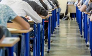 Des lycéens et lycéennes pendant une épreuve du bac. (illustration)