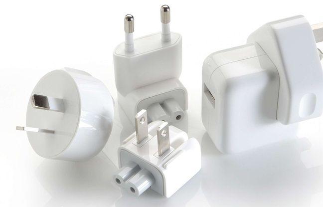 Des adaptateurs pour Apple. Illustration