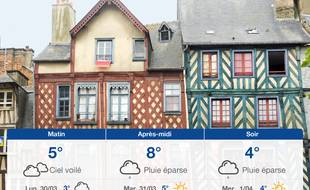 Météo Rennes: Prévisions du dimanche 29 mars 2020