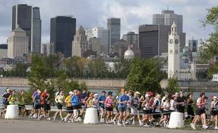Illustration du marathon de Montréal en 2010.