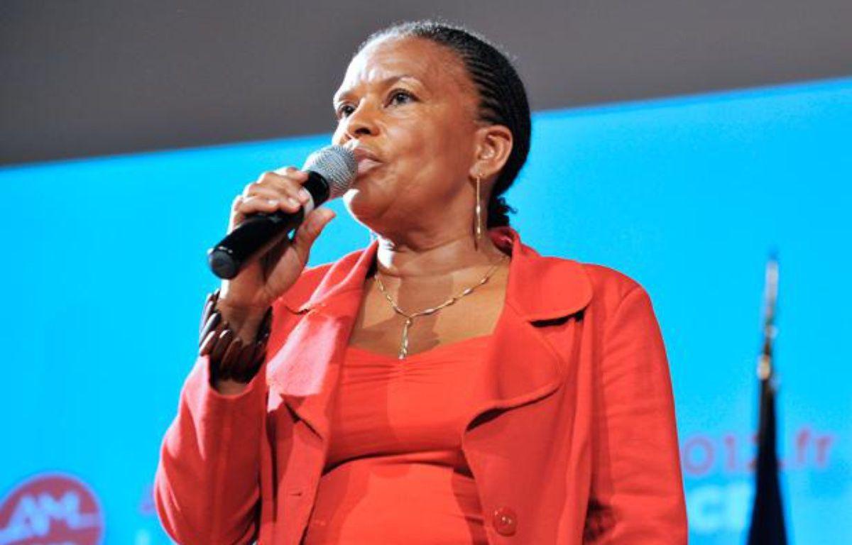 Christiane Taubira lors des primaires socialistes à Paris, le 2 octobre 2011. – JOHANNA LEGUERRE / AFP