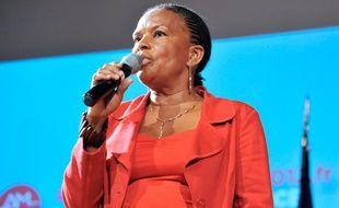 Christiane Taubira lors des primaires socialistes à Paris, le 2 octobre 2011.
