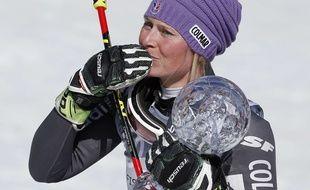 Tessa Worley   a remporté la Coupe du monde de slalom géant, le 19 mars 2017 à Aspen.