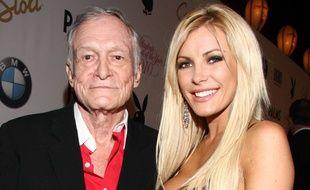 Hugh Hefner et sa femme Crystal à la soirée Playmate of the Year en 2011
