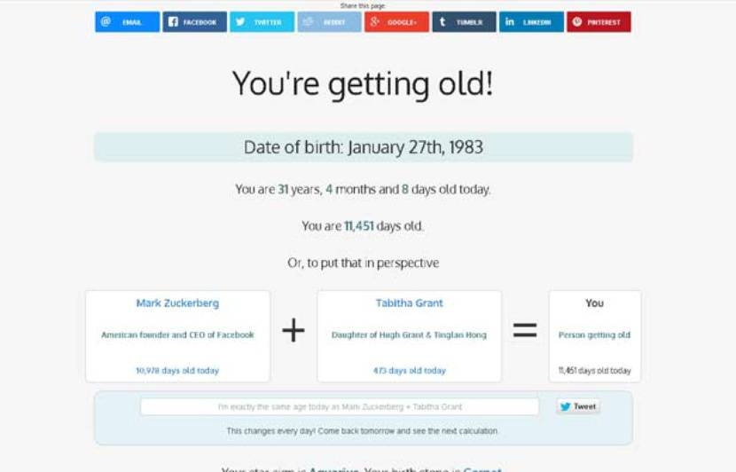 you're getting old the most cool website in white background