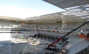 Chantier du Grand Stade de Bordeaux, le 12 septembre 2014