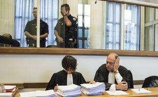Éric Dupond-Moretti (à droite), avocat de Lylian Legrand