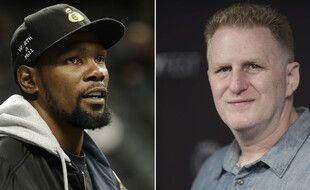 Le basketteur Kevin Durant et l'acteur américain Michael Rapaport