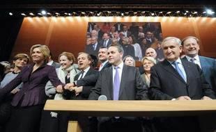 Des cadres de l'UMP au conseil national du parti à Aubervilliers, le 28 novembre 2009.