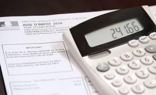 Un avis d'imposition 2018 sur la taxe d'habitation (image d'illustration).