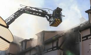 Incendie à Schiltigheim (Bas-Rhin). Le 03 septembre 2019.