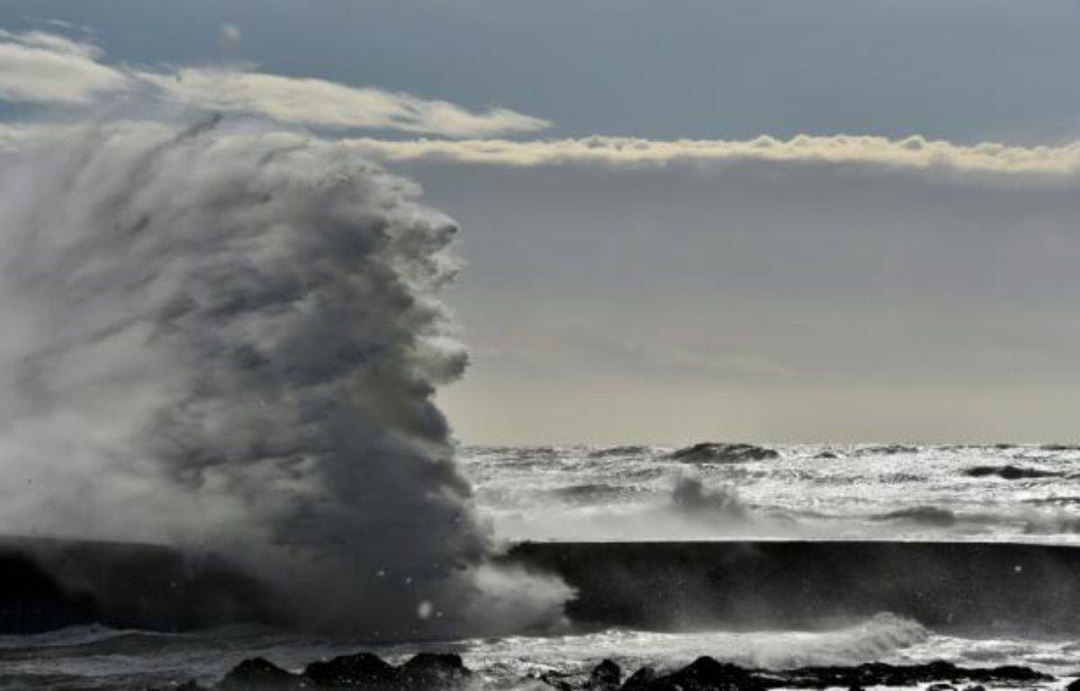 Une vague aux  Sables-d'Olonne en France, le 9 février  2016 – LOIC VENANCE AFP