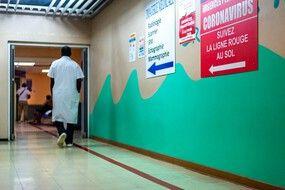 Dans l'hôpital de Pointe-a-Pitre, en Guadeloupe.