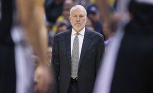 Le coach des Spurs Gregg Popovich a décroché sa 1.000e victoire en NBA face aux Pacers, le 9 février 2015.