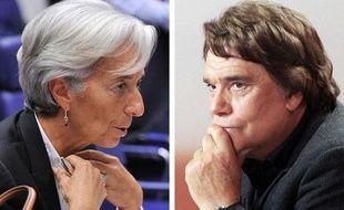 La directrice générale du FMI, Christine Lagarde, et Bernard Tapie.