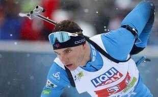 Emilien Jacquelin lors du relais mixte des Mondiaux, le 10 février 2021.