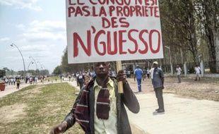 Manifestation de l'opposition congolaise à Brazzaville, le 27 septembre 2015