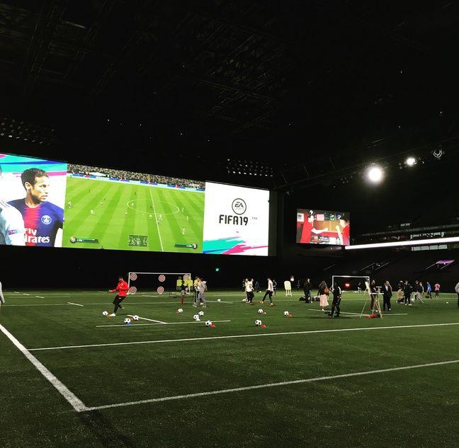 Présentation en grande pompe de Fifa 19 à la Paris La Défense Arena