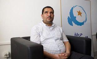 Mohamed Nejib Gharbi, membre du bureau exécutif d'Ennahdha, à Tunis, le 20 septembre 2012.