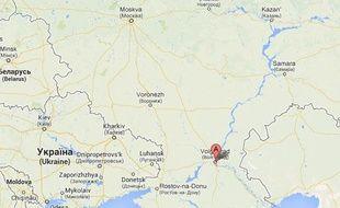 Capture d'écran de la ville de Voldograd, dans le sud de laRussie.