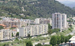 Le quartier de l'Ariane, à l'est de Nice (Illustration)