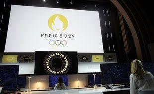 La présentation du logo Paris-2024 à Paris, le 21 octobre 2019.