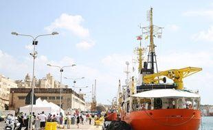 L'Aquarius dans un port maltais, le 15 août 2018.