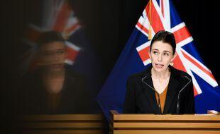 Jacinda Ardern, la première ministre néo-zélandaise, lors d'une conférence de presse, le 24 août.