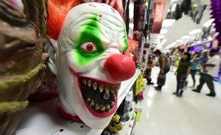 Un masque de clown (image d'illustration).