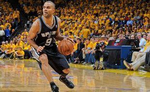 Le meneur des San Antonio Spurs Tony Parker lors du match contre les Golden State Warriors le jeudi 16 mai 2013.