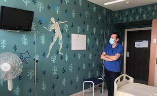 L'artiste Fred Mazère a décoré une chambre du CHU de Nantes