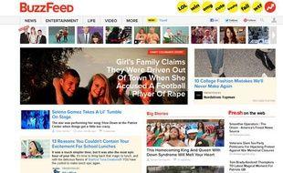 Capture d'écran du site BuzzFeed.