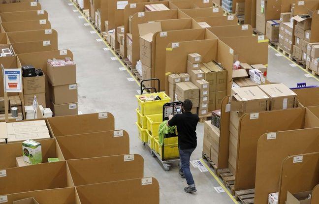 Un entrepôt d'Amazon en Allemagne.
