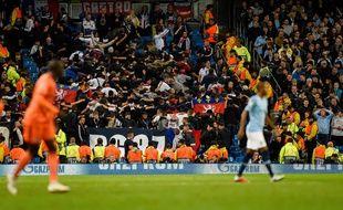 Le supporter auteur du salut nazi se trouvait dans le parcage lyonnais, mercredi soir lors du match contre Manchester City à l'Etihad Stadium.