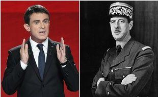 """Manuel Valls cite lui aussi le joker """"de Gaulle"""", lors du débat de la primaire du PS le 25 janvier 2017."""