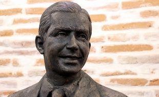 La statue en bronze de Carlos Gardel qui sera dévoilée samedi matin à Toulouse.