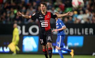 L'attaquant autrichien Philipp Hosiner était de retour à Rennes, jeudi.