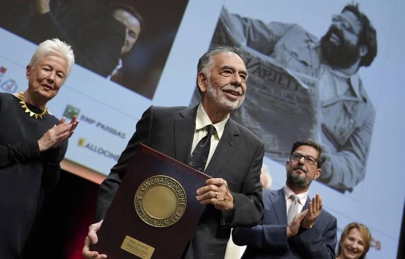 Lyon : Le géant du cinéma Francis Ford Coppola a reçu le Prix Lumière pour l'ensemble de sa carrière